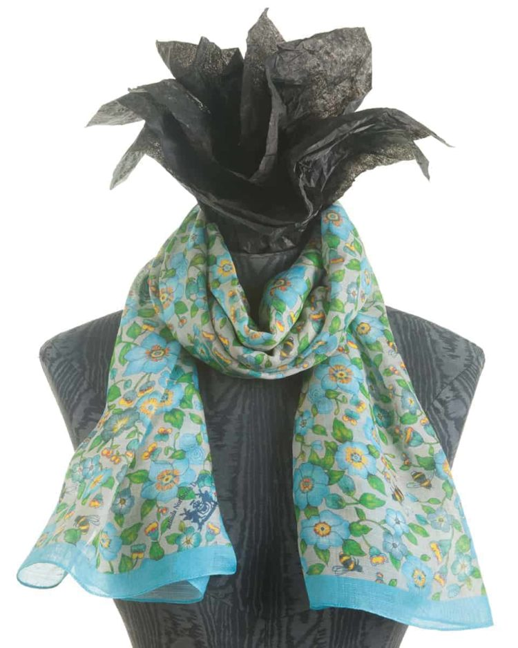 Ditsy Flowers Turquoise